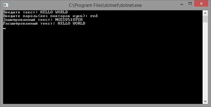 Алгоритм шифрования с квадратом Полибия